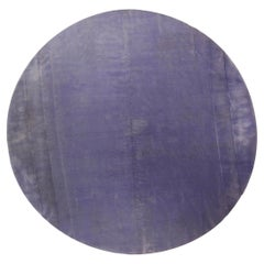 Doris Leslie Blau Collection Round Lavender Hand Knotted Mohair Rug