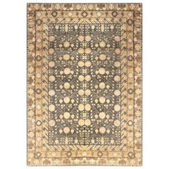 Doris Leslie Blau Collection Samarkand Rug in Blue and Gold Shades