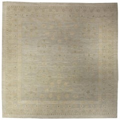 Doris Leslie Blau Collection Samarkand Square Rug in Beige and Gray