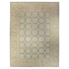 Doris Leslie Blau Collection Samarkand Style Blue Brown Handmade Wool Rug