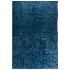 Doris Leslie Blau Collection Sand Dunes Blue Silk Modern Rug