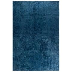 Doris Leslie Blau Collection Sand Dunes Rug in Blue Silk