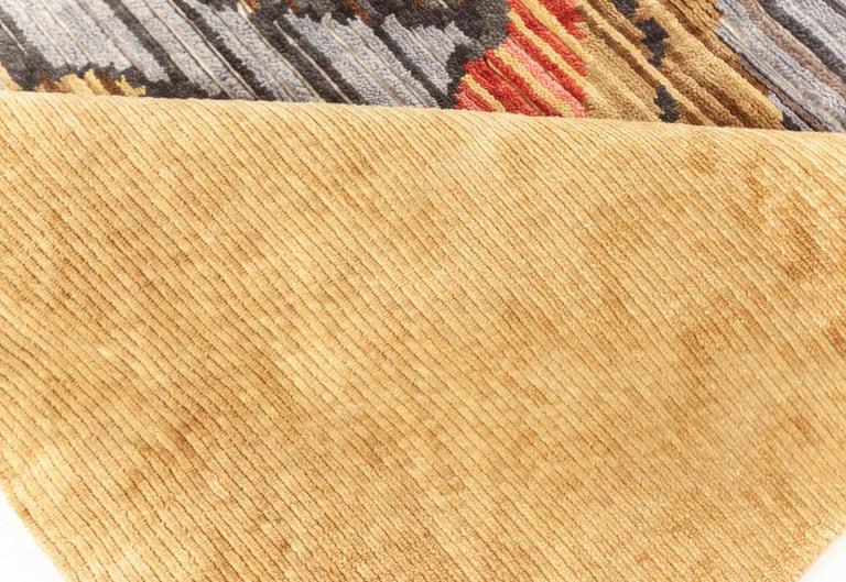 Art Deco Doris Leslie Blau Collection Sauron Textural Rug For Sale