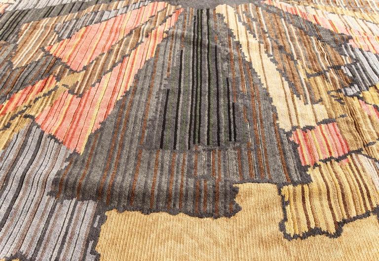 Indian Doris Leslie Blau Collection Sauron Textural Rug For Sale