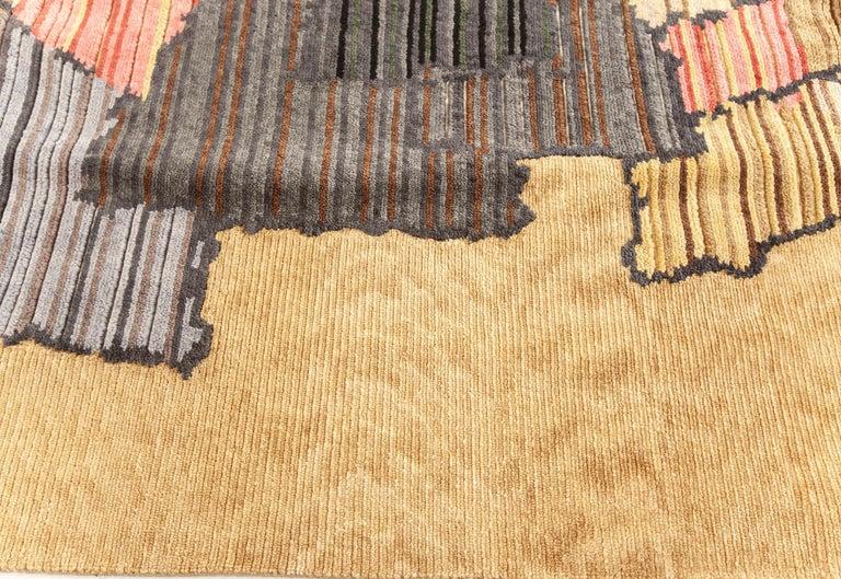Hand-Knotted Doris Leslie Blau Collection Sauron Textural Rug For Sale