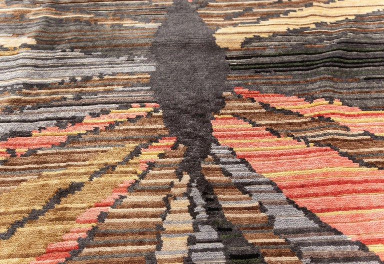 Doris Leslie Blau Collection Sauron Textural Rug In New Condition For Sale In New York, NY