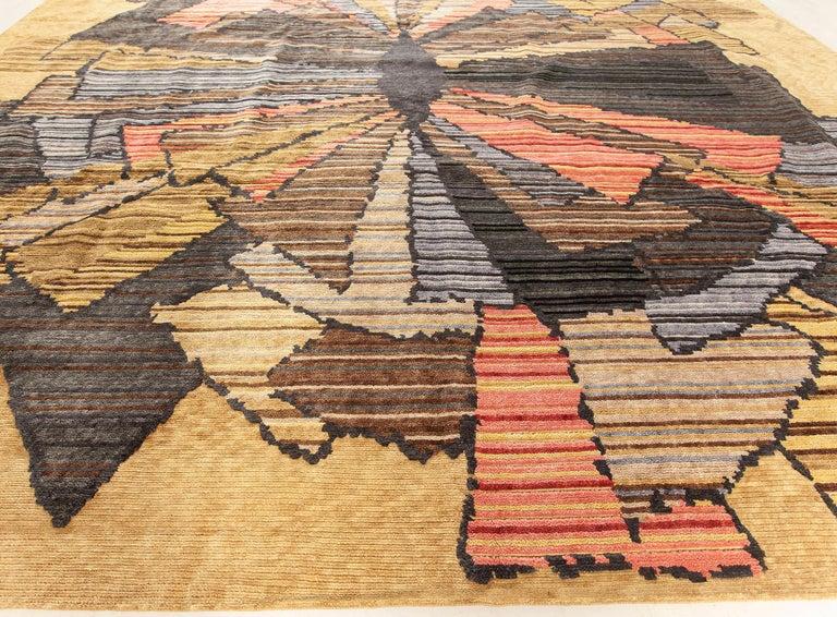 Wool Doris Leslie Blau Collection Sauron Textural Rug For Sale