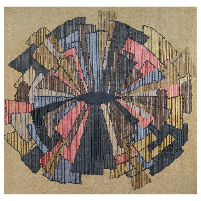 Doris Leslie Blau Collection Sauron Textural Rug For Sale
