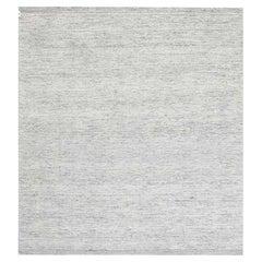 Doris Leslie Blau Collection Solid Light Gray Bauer Handmade Wool Rug III