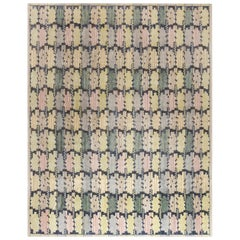 Doris Leslie Blau Collection Swedish Inspired Blue, Green, Purple and Yellow Rug