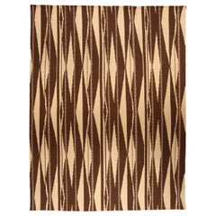 Doris Leslie Blau Collection Swedish Inspired Geometric Brown, Beige Wool Rug