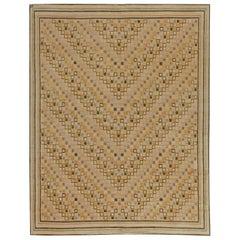 Doris Leslie Blau Collection Swedish Inspired Tibetan Beige Handmade Wool Rug
