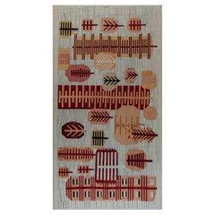 Doris Leslie Blau Collection Swedish Style Beige, Gold, Gray, Pink, Red Rug