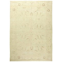 Doris Leslie Blau Collection Tabriz Beige Hand Knotted Wool Rug