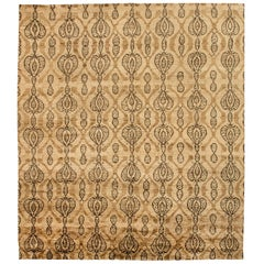 Doris Leslie Blau Collection Taj Brown Rug by Bunny Williams