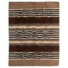 Doris Leslie Blau Collection Taurus Rug in Brown, Grey, White and Black