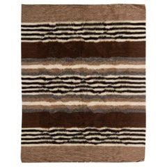 Doris Leslie Blau Collection Taurus Rug in Brown, Grey, White and Black