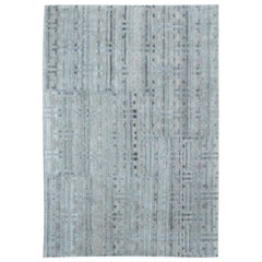 Doris Leslie Blau Collection Terra Blue Hand Knotted in Natural Wool Rug