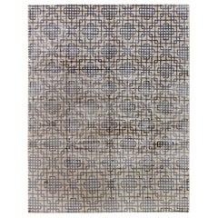 Doris Leslie Blau Collection Tibetan Art Deco Hand Knotted Wool and Silk Rug
