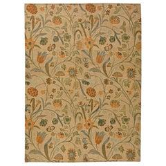 Doris Leslie Blau Collection Tibetan European Inspired Floral Handmade Wool Rug