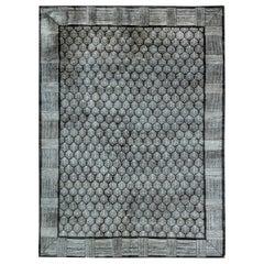 Doris Leslie Blau Collection Tibetan Pine Anthracite and White Handmade Rug