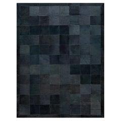 Doris Leslie Blau Collection Hair-on-Hide Contemporary Gray Rug