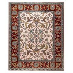 Doris Leslie Blau Collection Traditional Floral Design Flat-Weave Wool Rug