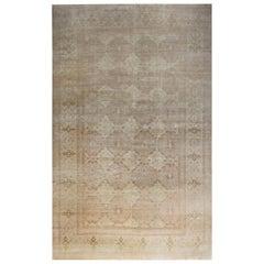 Doris Leslie Blau Collection Traditional Inspired Tabriz Beige Handmade Wool Rug