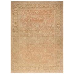 Doris Leslie Blau Collection Traditional Oriental Inspired Beige Wool Rug