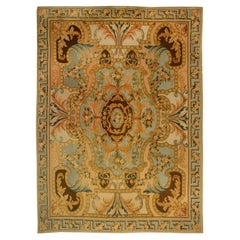 Doris Leslie Blau Collection Traditional Savonnerie Inspired High Low Wool Rug