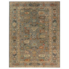Doris Leslie Blau Collection Traditional Sultanabad Design Blue and Gray Rug