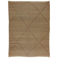 Doris Leslie Blau Collection Tribal Style Moroccan Flat-Weave Brown Area Rug
