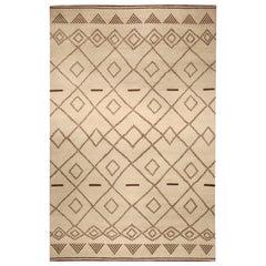 Doris Leslie Blau Collection Tribal Style Moroccan Rug with Diamond Design