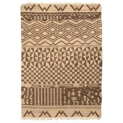 Doris Leslie Blau Collection Tribal Tulu Nadu Style Rug Brown Geometric Design
