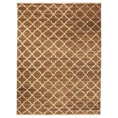 """Doris Leslie Blau Collection Tulu Nadu """"Alahambra Scaled"""" Brown Wool Rug"""