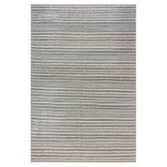 Doris Leslie Blau Collection Zig Zag Bamboo Silk Rug in Beige, Gray & Green