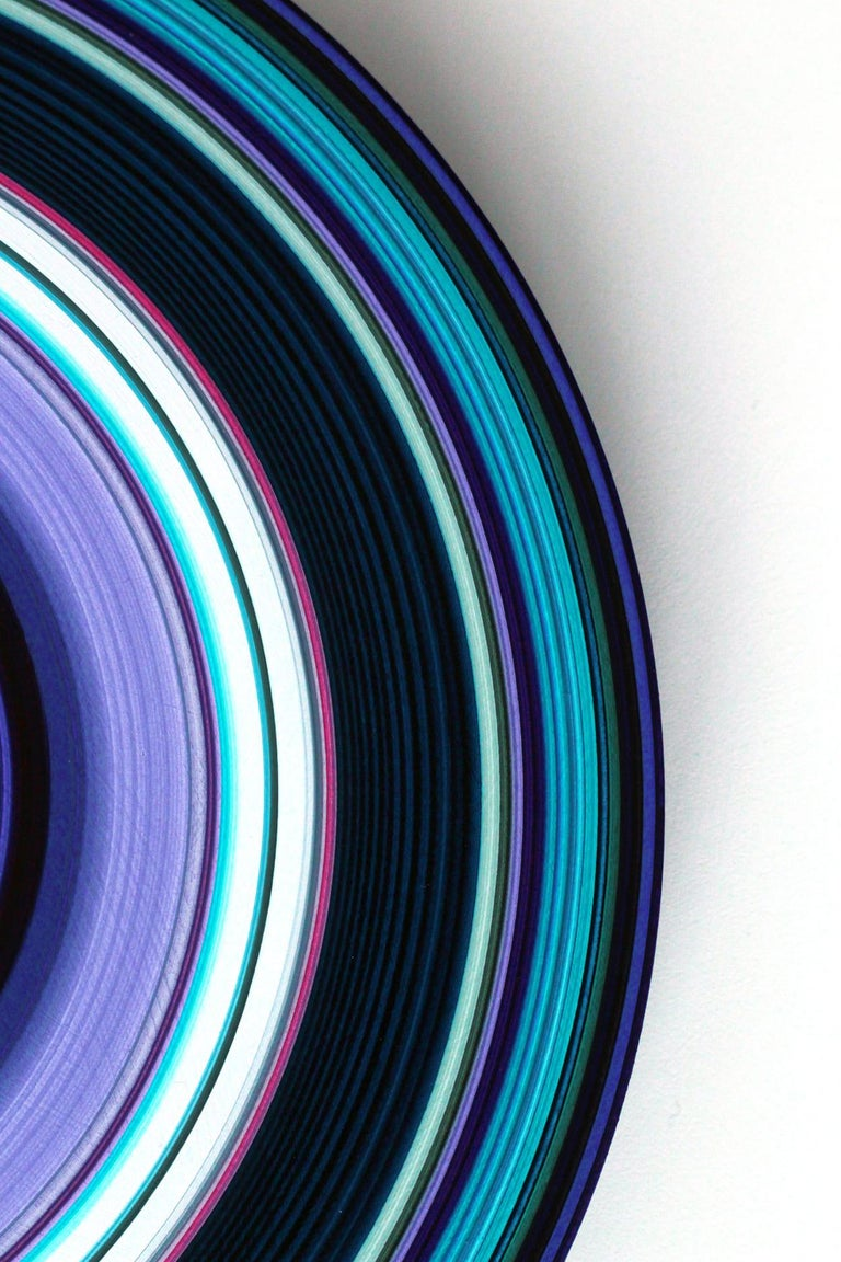 Blue Edition No.30 (Sound & Vision series) - Abstract painting on vinyl - Painting by Doris Marten