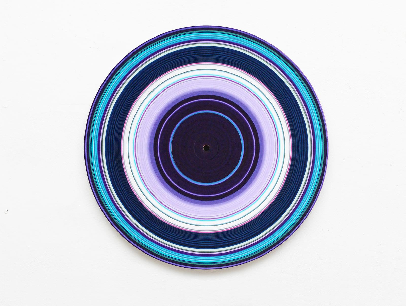 Blue Edition No.30 (Sound & Vision series) - Abstract painting on vinyl