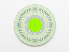 Green Edition No.15 (Sound & Vision series) - Abstract painting on vinyl
