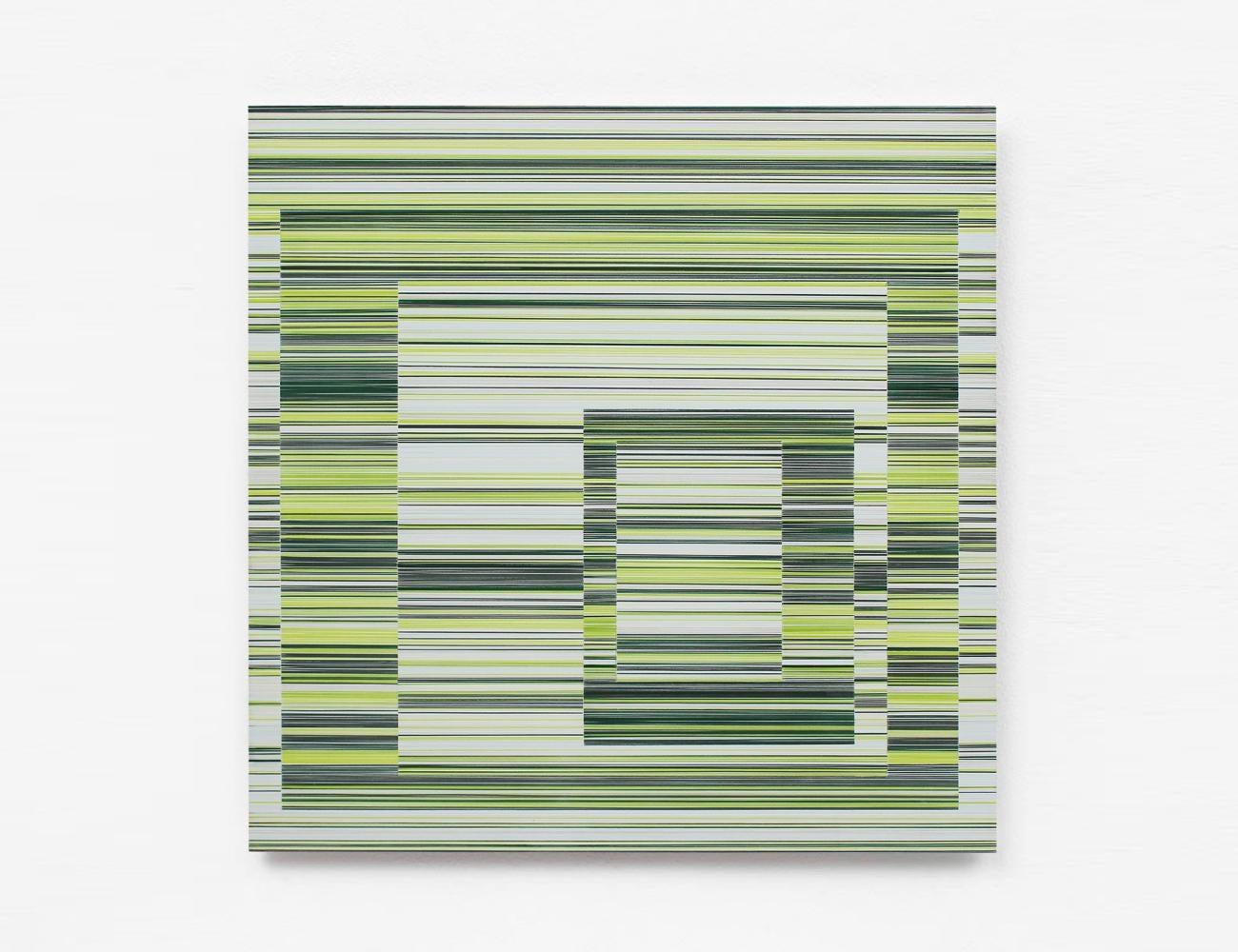 Layer No.16 by Doris Marten - Abstract painting, minimalist, green