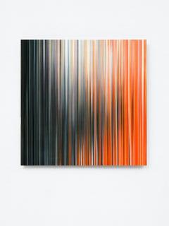 Light'n'Lines No.15 by Doris Marten - Abstract painting, Minimalist, Orange