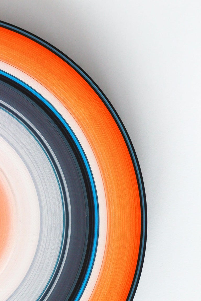 Orange Edition No.03m (Sound & Vision series) - Abstract painting on vinyl - Painting by Doris Marten