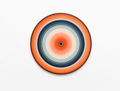 Orange Edition No.03m (Sound & Vision series) - Abstract painting on vinyl