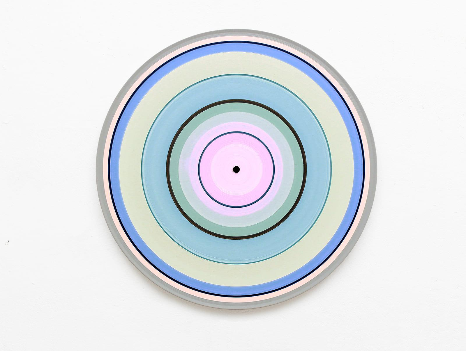 Pale Edition No.01 (Sound & Vision series) - Abstract painting on vinyl