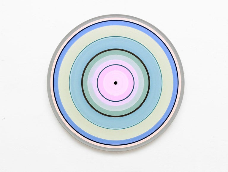 Doris Marten Abstract Painting - Pale Edition No.01 (Sound & Vision series) - Abstract painting on vinyl