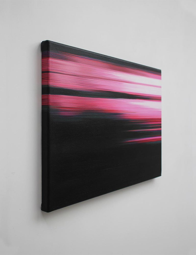 Pink Painting (Landscape No.7) by Doris Marten - Abstract painting, contemporary For Sale 1