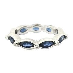 Doris Panos Blue Sapphire and Diamond Eternity Band R807SA