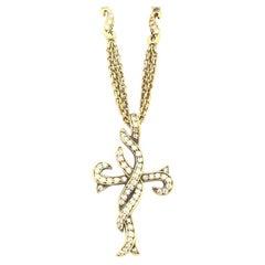 Doris Panos Ladies Diamond Cross Necklace NC627V