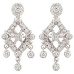 Doris Panos White Gold Diamond Earrings
