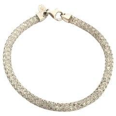 Doris Panos White Topaz Gold Mesh Ladies Bracelet BR7021
